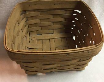 Longaberger Old Napkin Basket (#005)