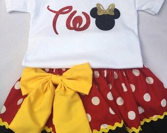Minnie birthday 2 piece set