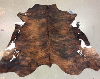 Colombian Brindle Cowhide Rug on Sale Now! |  FREE SHIPPING