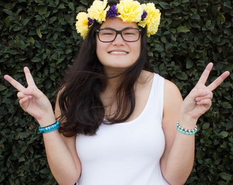 Yellow Chrysanthemum Flower Crown