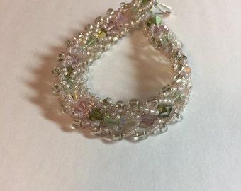 Green & Pink Natural Bracelet