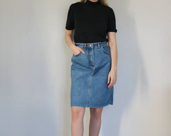 Vintage High Waisted Lee Denim Skirt