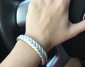 Custom Sterling Silver Braid Cuff