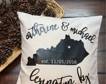 Monogram Pillow, Customized Pillow, Personalized Pillow, Decorative Pillow, name pillow, wedding gift, anniversary gift, wedding date pillow