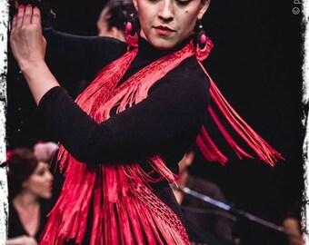 Strips of fringe for dancing Flamenco