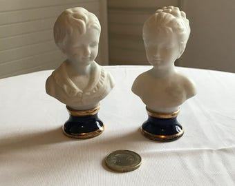 2 small Houdon bust