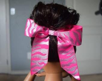 Pink Zebra Bow