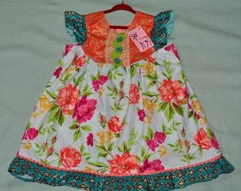 4T Springtime Floral Flutter Dress