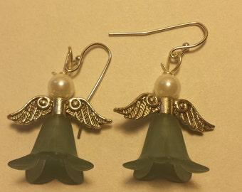 Dusty Teal Fairy Earrings