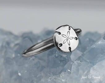 Sterling Silver Sand Dollar Ring Solid .925 Beach Ocean Custom Sizes