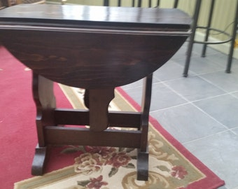 Small Solid Wood Gate Leg Table