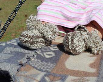 100% Wool Baby Booties