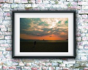 Home decor, sky, clouds, sunset, digital art, photo download, printable art, digital photo, wall decor, downloadable art, instant download,