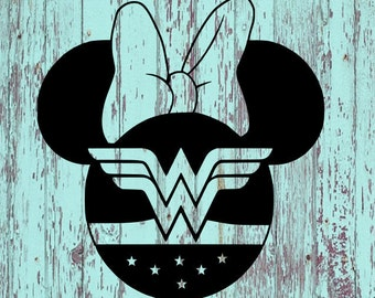 Wonder Woman Minnie Decal/Wonder Woman/WW/Minnie/Disney/Wonder Woman Minnie/Wonder Woman Decal/Minnie Decal