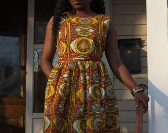 African Ankara Print Dress