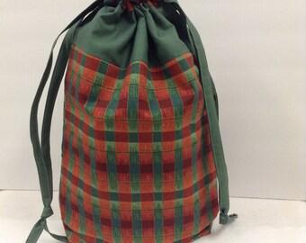 Project bag, knitting bag, crochet bag, drawstring bag
