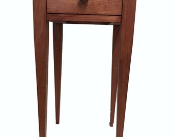 Handmade Nightstand, Cherry Table, End Table, Side Table,  Living Room Furniture, Bedroom Furniture, Home Decor, Home Furnishings,