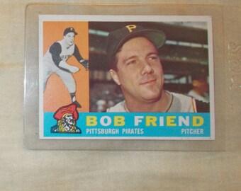 1960 Topps Baseball card #437  Bob Friend  Pirates  Pitcher