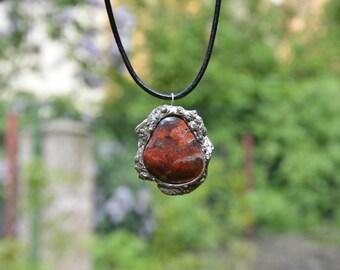 Jaspe pendant/ soldered jewerly/tiffany