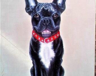 Custom Pet Portrait. Custom dog oil painting. Custom animal portrait. Art wall decor. Art-oil painting.