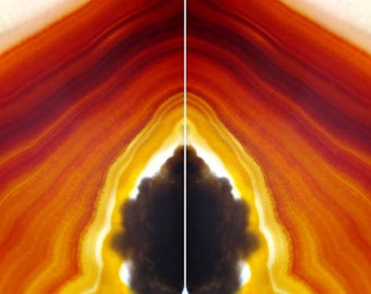 Diptych Agate Wall Art, Macro Photography