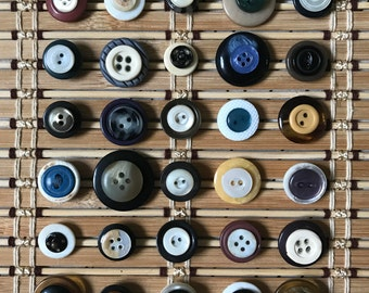 Vintage Button Push Pins ~ Set of 30