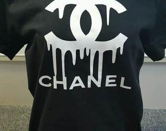 Chanel Logo Shirt Etsy