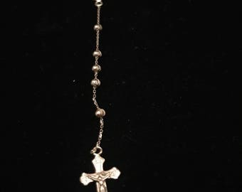 14k Gold Rosary Necklace