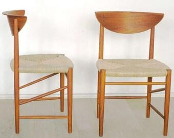 Mod. 313 Teak Chair by Peter Hvidt & Orla Molgaard-Nielsen for Søborg, 1960s
