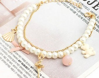 Pearl Dance Charm Bracelet
