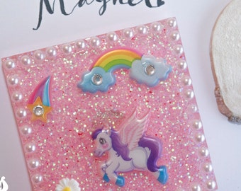 Magnets, refrigerator magnets, fairy, horse