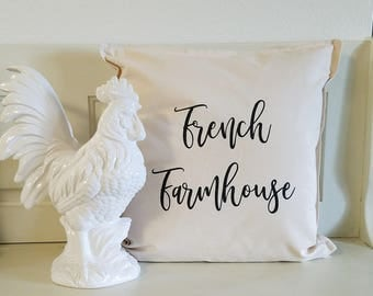 "Pillow Cover ""French Farmhouse"""