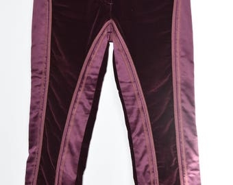 "Pants roberto cavalli / Burgundy women /haute sewing / luxury / high-end /cadeau / VintageALaMaison / mode / connected / years ""90"""