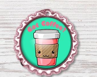 Nurse Badge Reel | Coffee Bottle Cap Badge Reel | Nurse Badge Reel | Bottle Cap Retractable Badge Reel | Nurse Badge Reel | CNA Badge