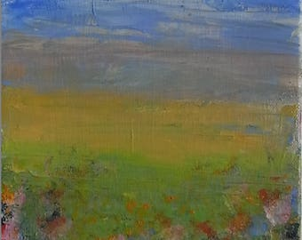 Late Summer's Day, Ellena Fries, Oil on Canvas, 24x18cm