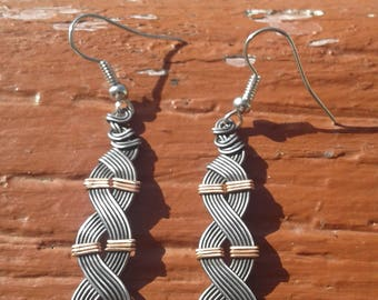 Iron and Copper Earrings