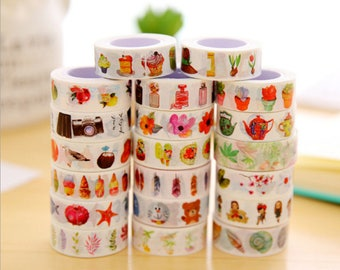 New 2017 custom washi tape Designs - Decorative Washi Paper Tape With customized Designs and Patterns - Perfect For Planners, Decorating