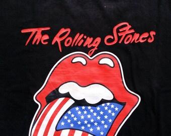 The Rolling Stones Flag Tongue Men's Tee Large T-shirt Original shirt Tag GTS