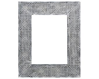 Frame for photo Tapa, Tribal carving, Indonesia ethnic art, Rustic photoframe, Vintage photoframe, African printable, Afrocentric decor