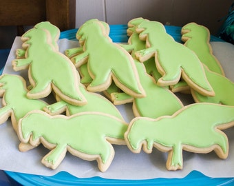 1 Dozen Dinosaur cookies, T-Rex, Tyrannosaurus Rex, sugar cookies