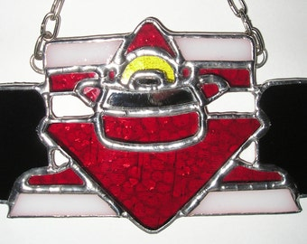 F1, Formula 1 Racing Car, Ferrari Red, Stained Glass Suncatcher, Handmade in England