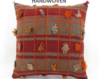 decorative pillow kilim pillow cover throw pillow kilim pillow case turkish cushion tapestry rustic pillow farmhouse decor home decor 000209