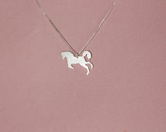 Horse necklace silver horse pendant necklace flat horse necklace Ferrari necklace horse rider necklace horse rider gift horse lover gift