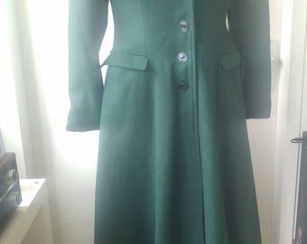 Vintage inspired green winter coat