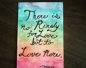 Thoreau Watercolor Quote