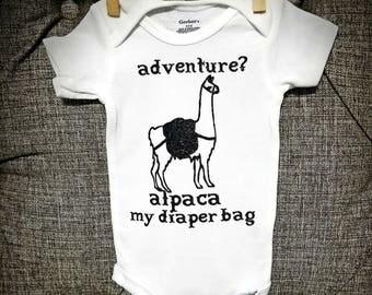 Funny onesie, farm onesie, farm baby clothes, hipster baby, alpaca funny onesie, trendy baby