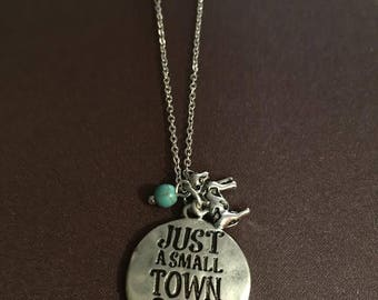Just a Small Town Girl with cute Cow charm