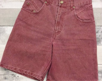 Vintage Palmettos Maroon Red High Waisted Mom Jean shorts