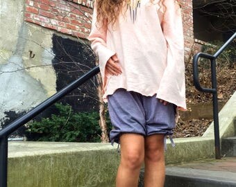 Love. Hysteria.  Boatneck Tunic in organic hemp jersey. Made to order.