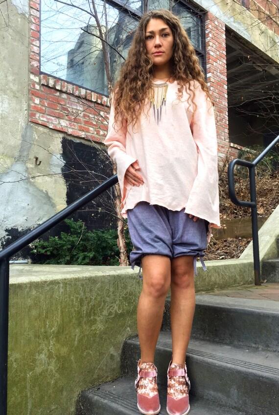 Hemp top custom made and hand dyed // organic clothing // eco-friendly // hemp clothing // boatneck tunic